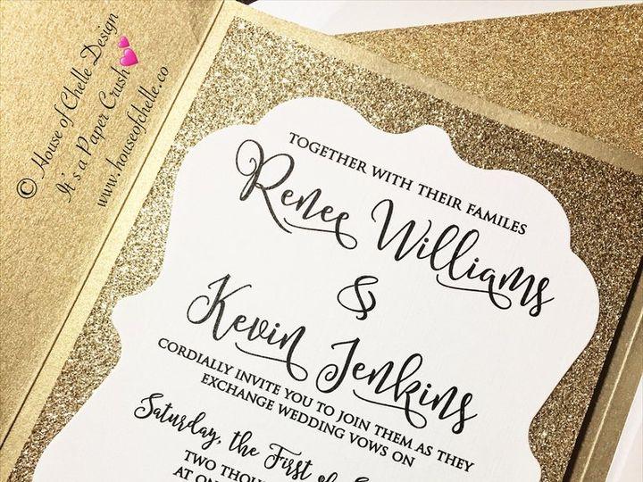 Tmx Gold And White Glitter Wedding Invitation Renee 2 51 430632 Arlington, District Of Columbia wedding invitation