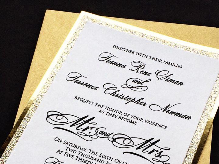 Tmx Gold Glitter Mr And Mrs Invitation 51 430632 Arlington, District Of Columbia wedding invitation