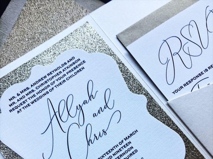 Tmx Ivory And Gold Glitter Wedding Invitation Allyah 51 430632 Arlington, District Of Columbia wedding invitation