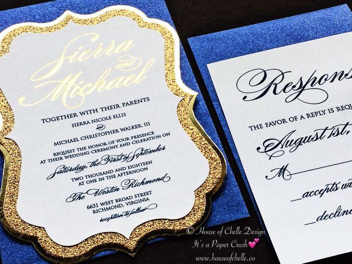 Tmx Navy And Gold Glitter Invitation Die Cut Sierra 51 430632 Arlington, District Of Columbia wedding invitation