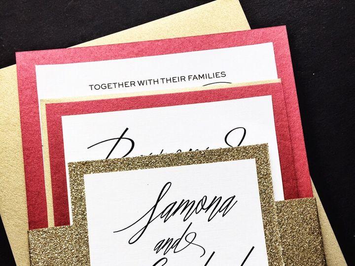 Tmx Red And Gold Wedding Invitations Samona Version 2 51 430632 Arlington, District Of Columbia wedding invitation