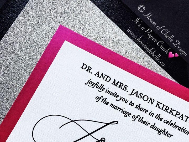Tmx Silver Glitter And Hot Pink Wedding Invitation Calligraphy Sophia Closeup 51 430632 Arlington, District Of Columbia wedding invitation
