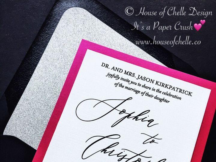 Tmx Silver Glitter And Hot Pink Wedding Invitation Calligraphy Sophia 51 430632 Arlington, District Of Columbia wedding invitation