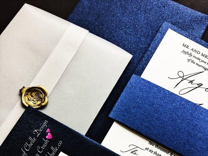 Tmx Vellum Wedding Invitation Angela Navy Blue With Gold Wax Seal 1 51 430632 1557888903 Arlington, District Of Columbia wedding invitation
