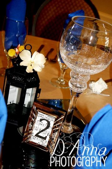 """For the Love of """"Muzic"""" Centerpieces"""