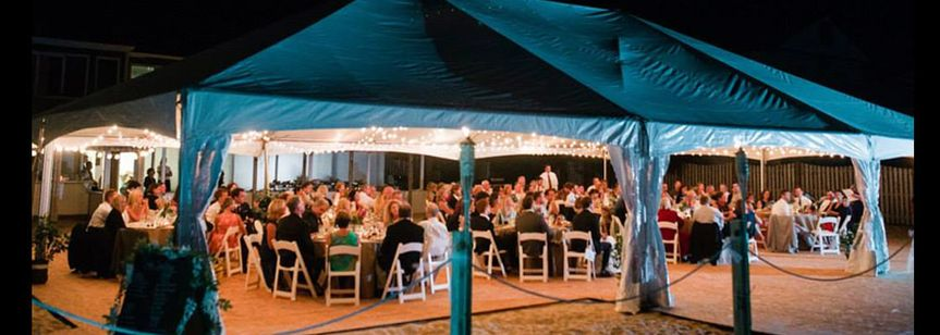 evening beach wedding ac party rentals