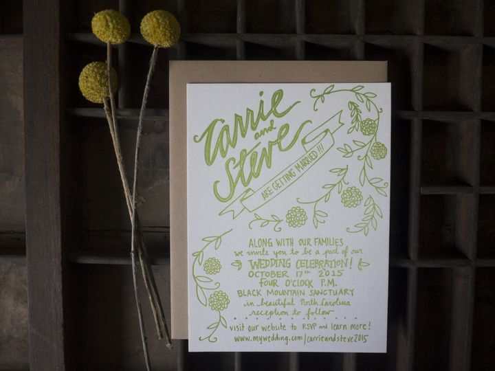 Tmx 1452519182251 P1060829 Asheville wedding invitation