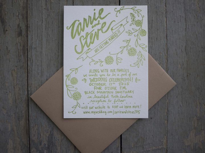 Tmx 1452519204355 P1060850 Asheville wedding invitation