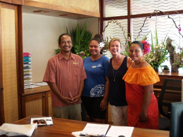 Alison and Le Maitai staff