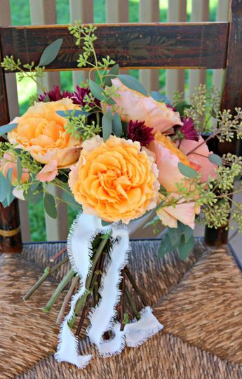peachy pink rose bouquet img8547