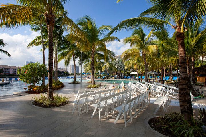 Poolside wedding venue