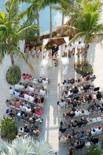 Bird's-eye view of ceremony