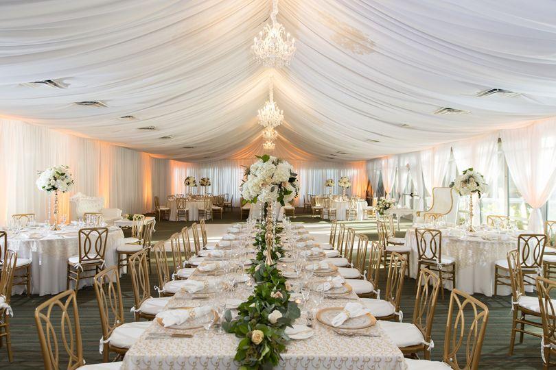 Ballroom Wedding Setup