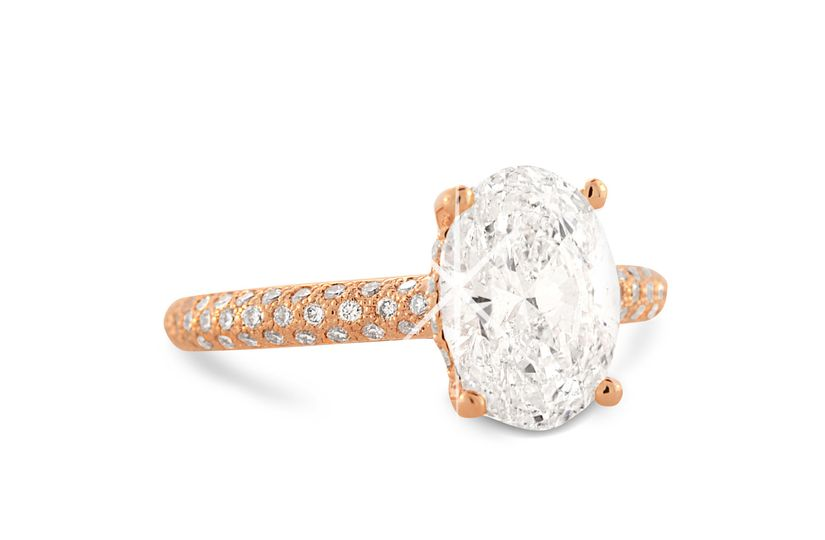 #custom #rosegold #diamond #oval