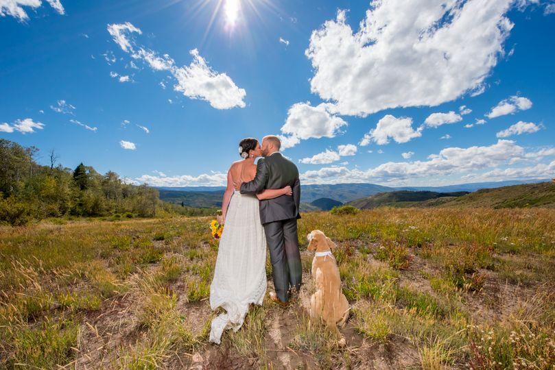 cordillera point wedding edwards photos with dog