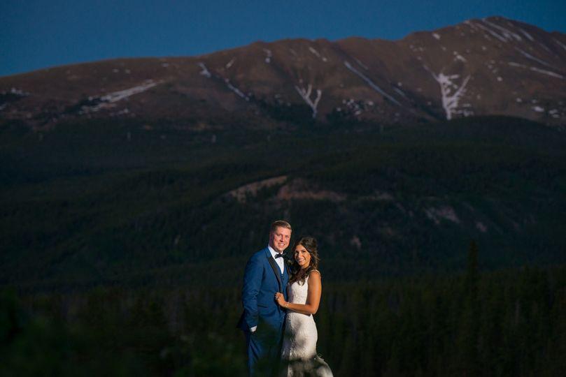 ten mile station wedding breckenridge night photog