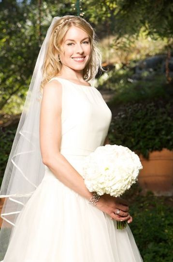 Kathryn looking very lovely on her big day in Santa Monica, CA