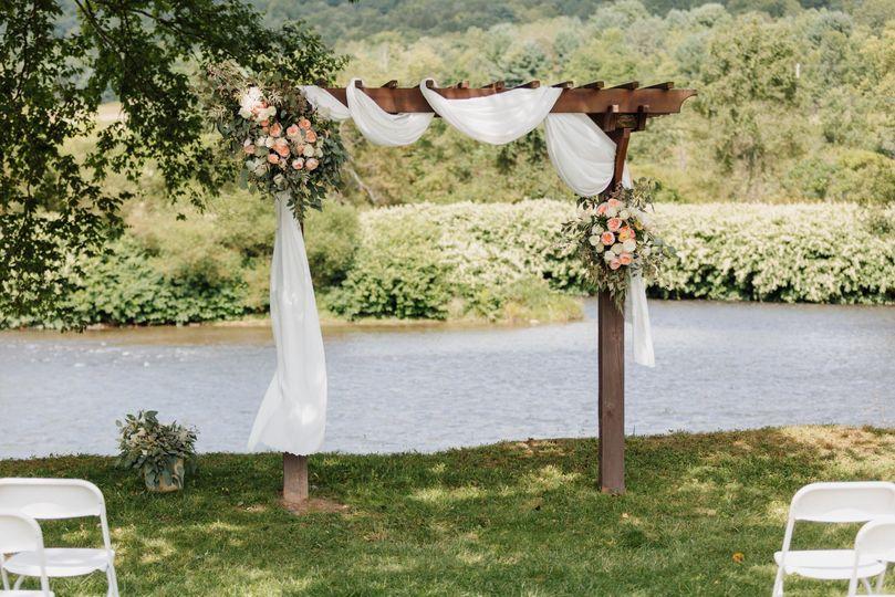 Lakefront wedding site