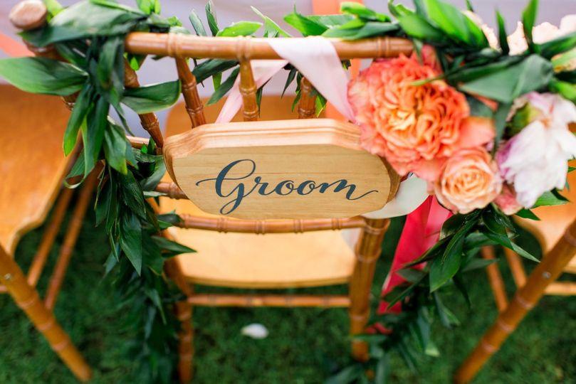 Groom's chair | angela nelson photography