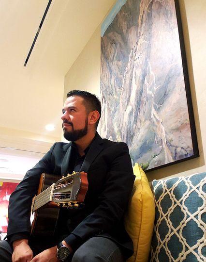 Solo guitar at Santa Fe's Hilt