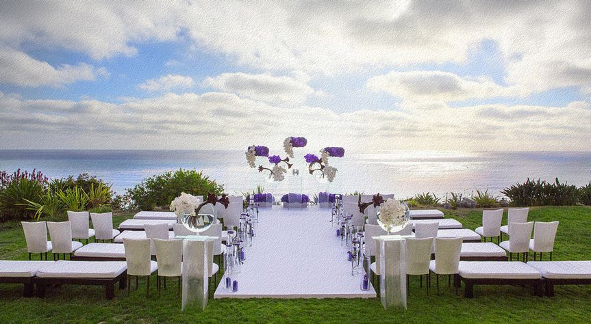 Modern, sleek wedding ceremony.  Photo by Christine Bentley Photography.  Planning by Kevin Covey...