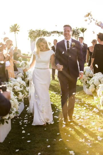 Classic all white wedding ceremony.  photo by Rachel Thurston Photography.  Planning by Kevin Covey...