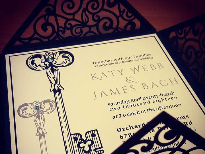 Tmx 1531261396 9706e436ed1efba1 27657104 10155747970855860 8011794331769020760 N Castle Rock, CO wedding invitation