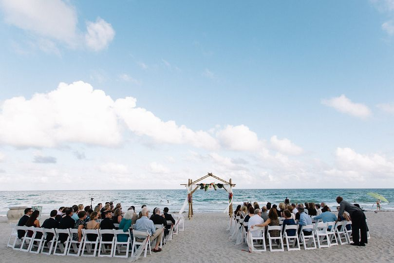 Recent oceanfront wedding