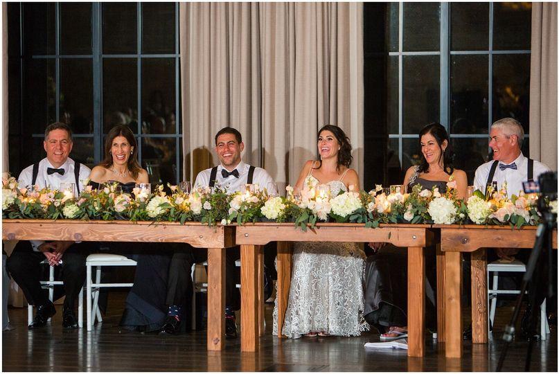 Head Table: Natirar Wedding