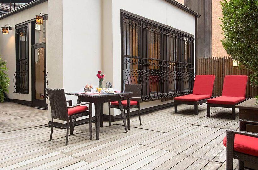 Pent house patio