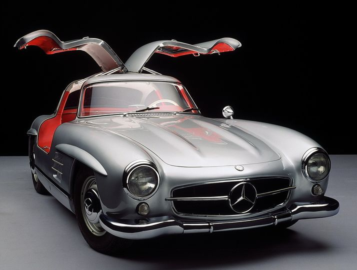 Mercedes Gullwing is one of many rare cars you will find on our showroom floor (lobby).