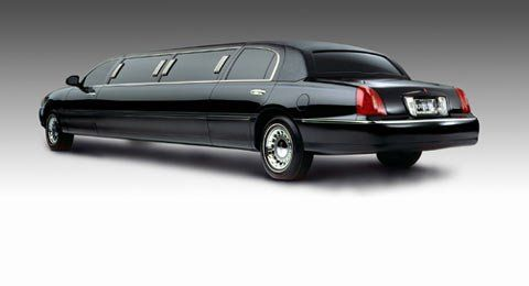 Sleek black limo