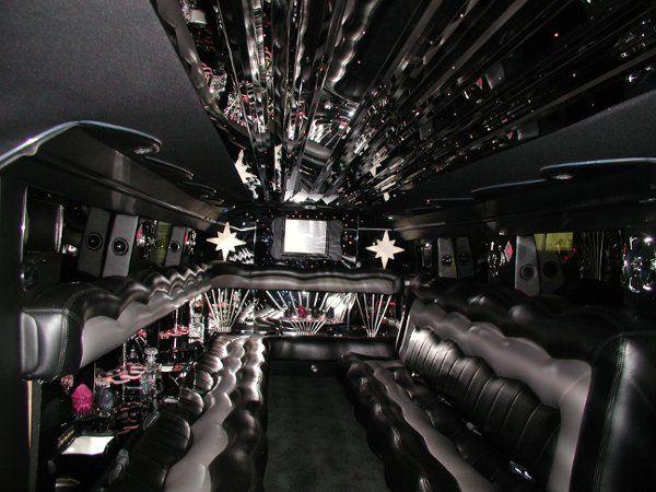 SUV limo interior