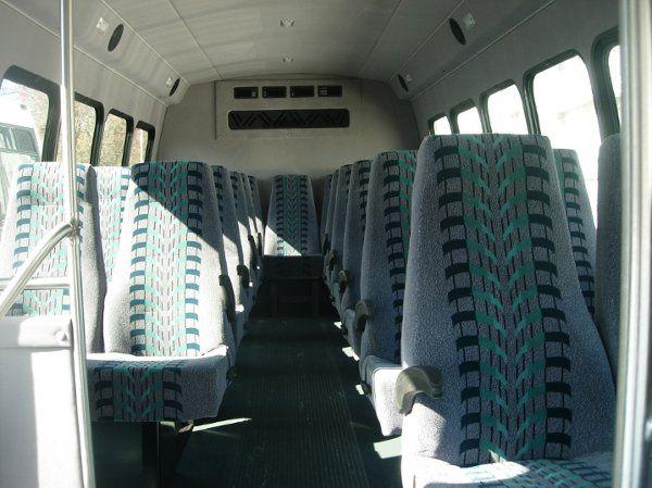 24 passenger shuttle bus interior