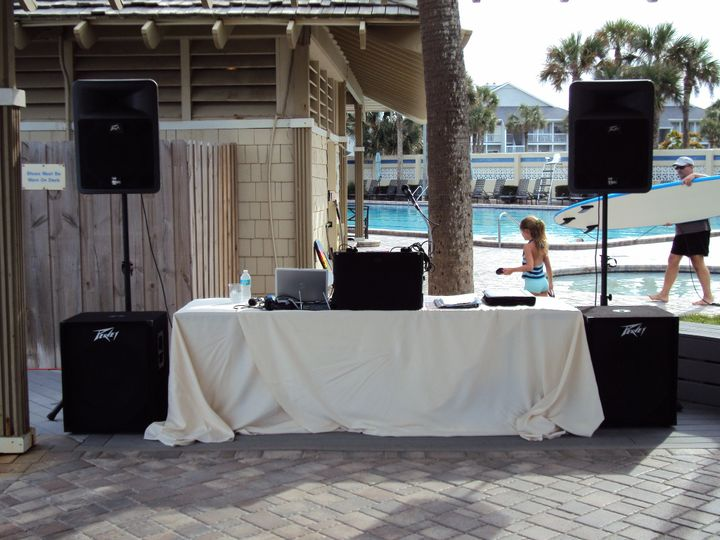 Outdoor DJ booth setup
