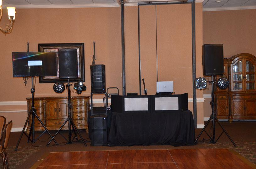 DJ booth setup
