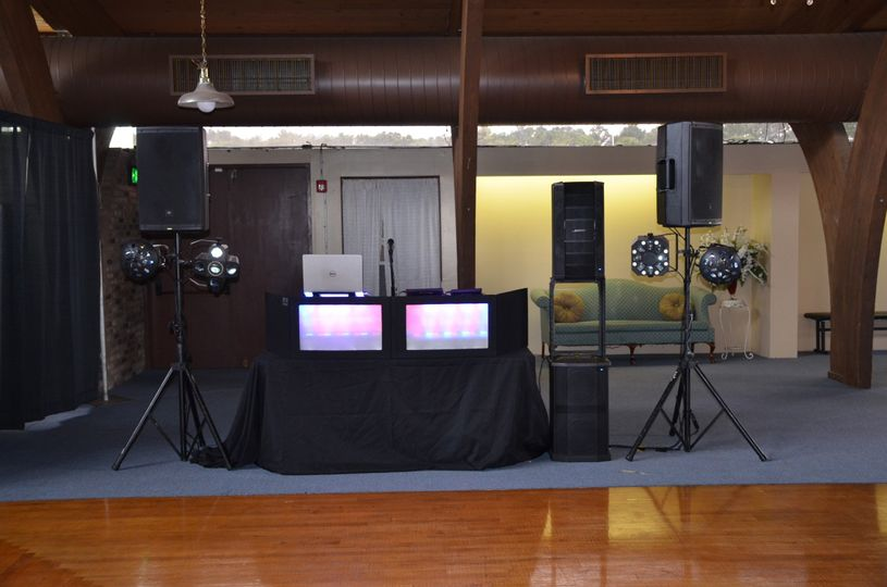 Booth setup for an event