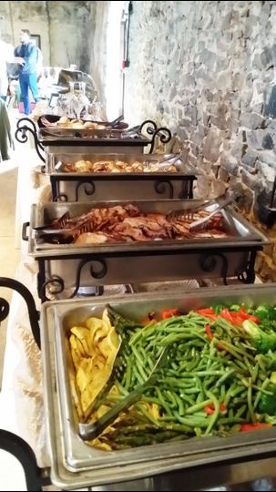 Buffet at 550 Trackside. (Seasonal Grilled Vegetables, Grilled Pork Tenderloin, Chicken Diablo and...