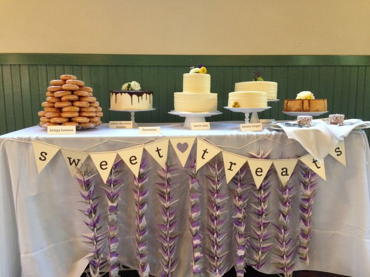 Sweet Treats Table at The Trolley Barn.