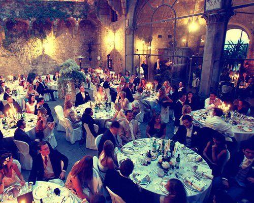 wedding reception in a castel