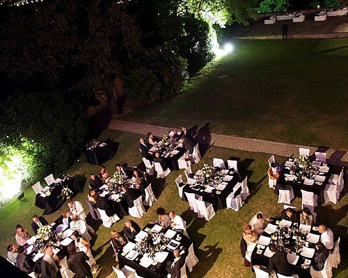 Dining in Italian garden