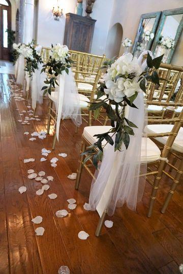 Grand Wedding Room Decoration on chairs