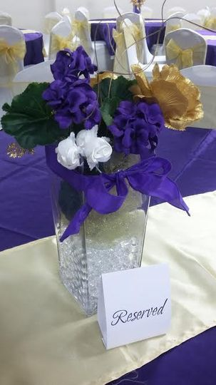 Silk floral centerpiece