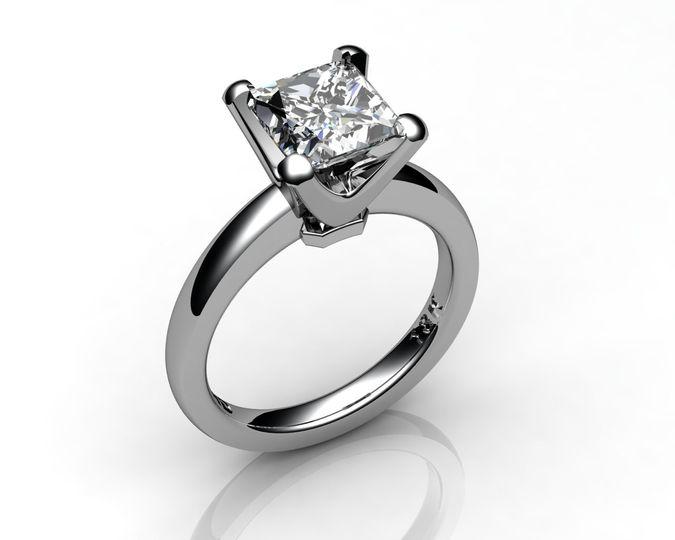 princess 2carat diamond platinum