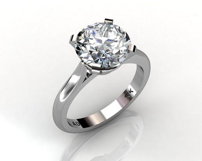 roundcut diamond 1carat platinum 004