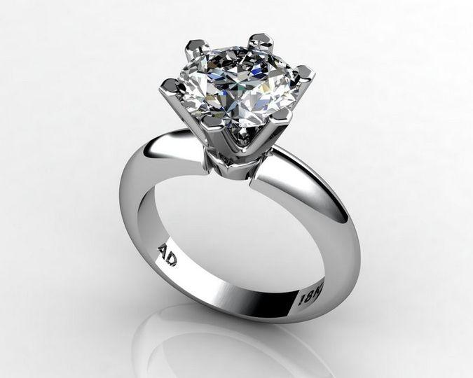 roundcut diamond 3carat whitegold 003