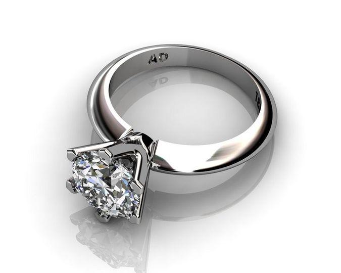 roundcut diamond 2carat platinum 001