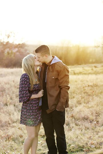 Gorgeous Engagement Session during our favorite time of day, Golden Hour.