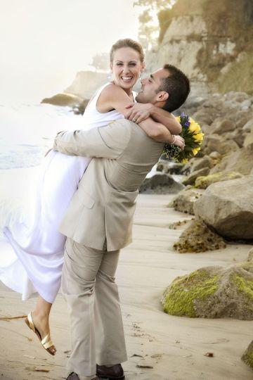 Lovely seaside wedding