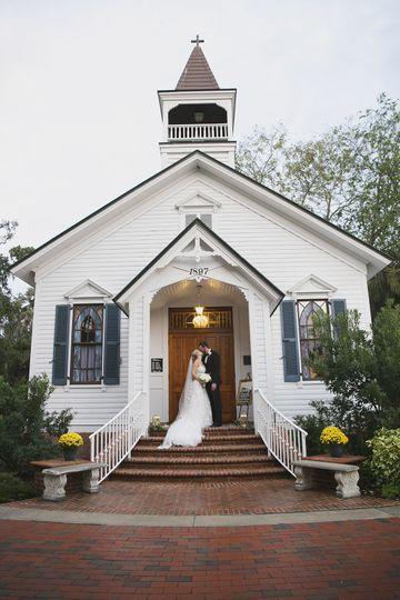 A white chapel wedding